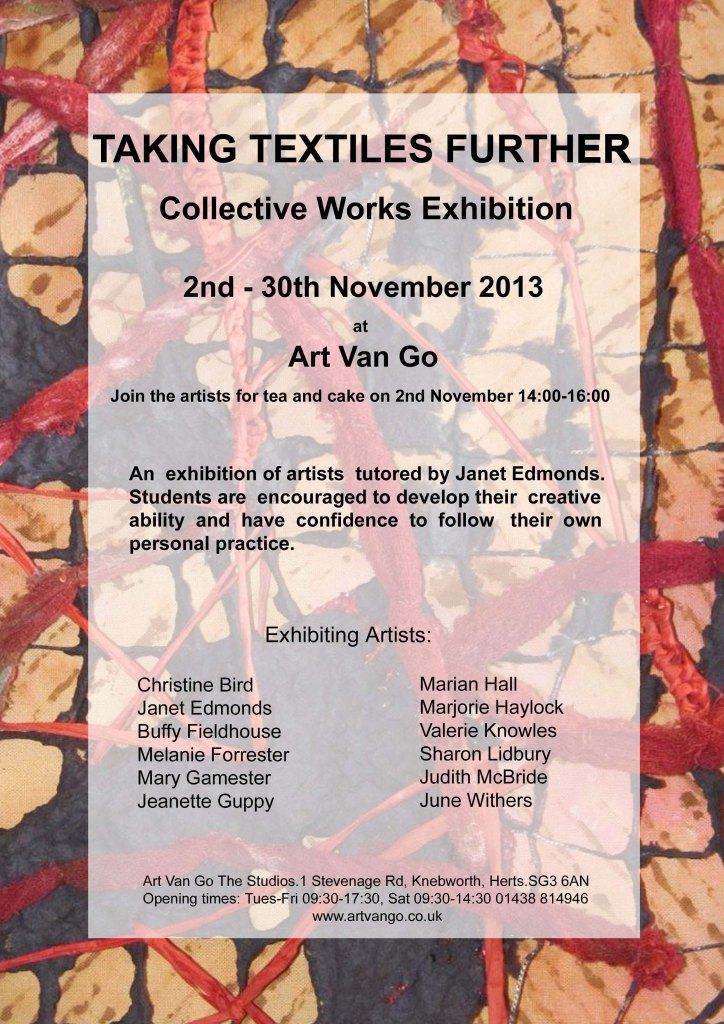 Taking Textiles Further Flyer - Final2