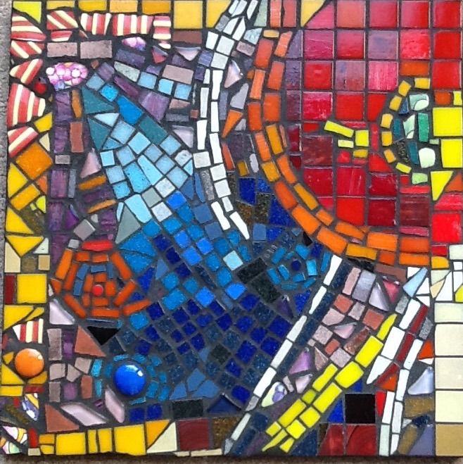 A mosaic made from a painting inspired by the work of Gillian Ayres