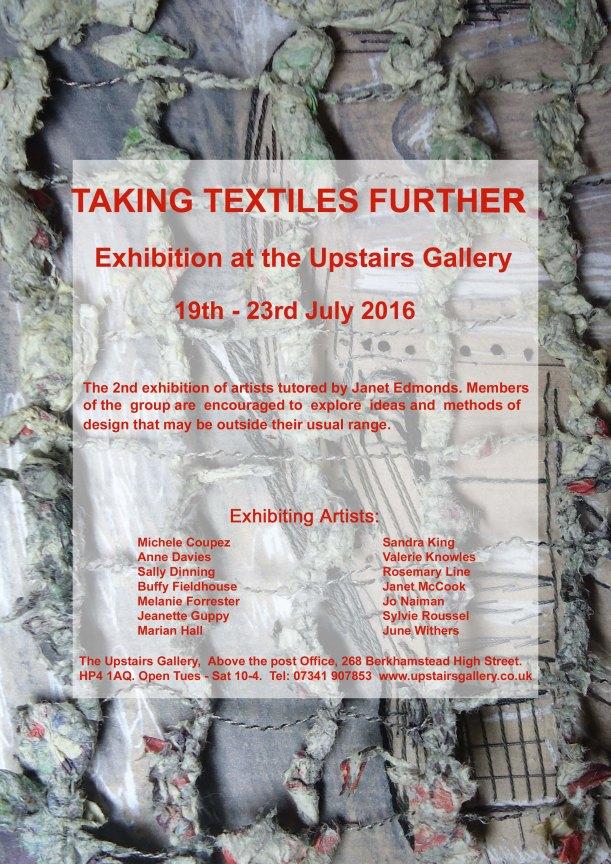 Taking Textiles Further UG Flyer  v 1 copy